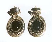 Obsidian earrings jewelry